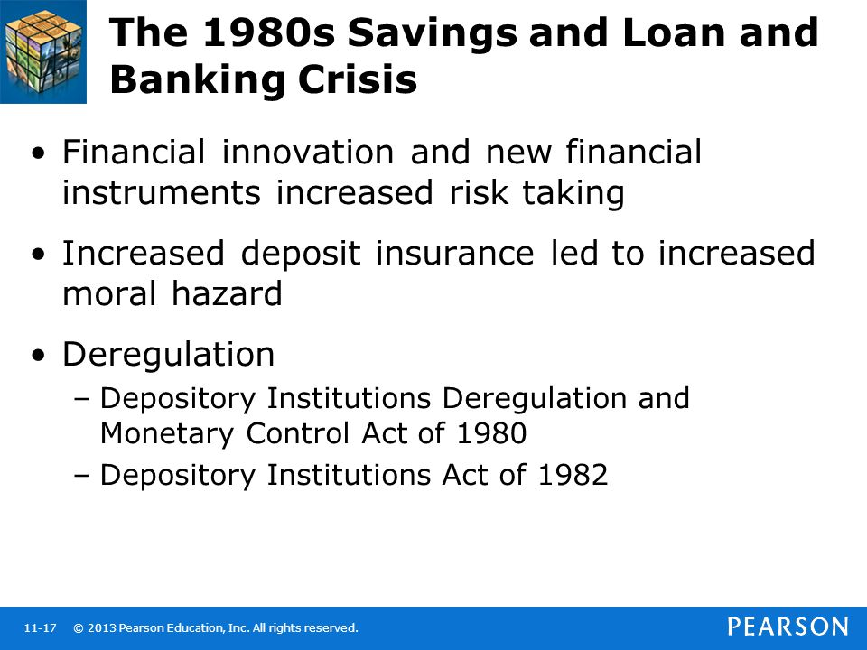 The 1980s Savings and Loan and Banking Crisis