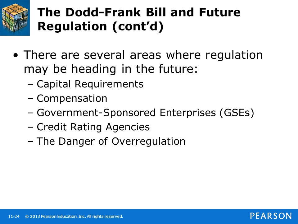 The Dodd-Frank Bill and Future Regulation (cont'd)