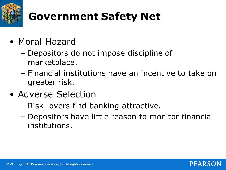 Government Safety Net Moral Hazard Adverse Selection