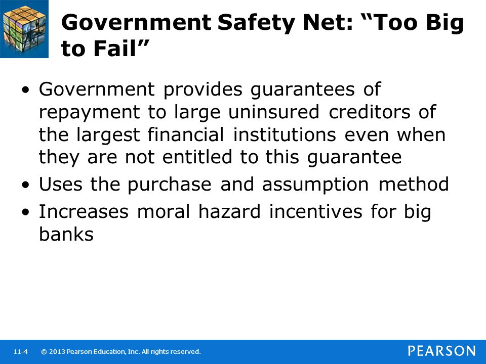 Government Safety Net: Too Big to Fail