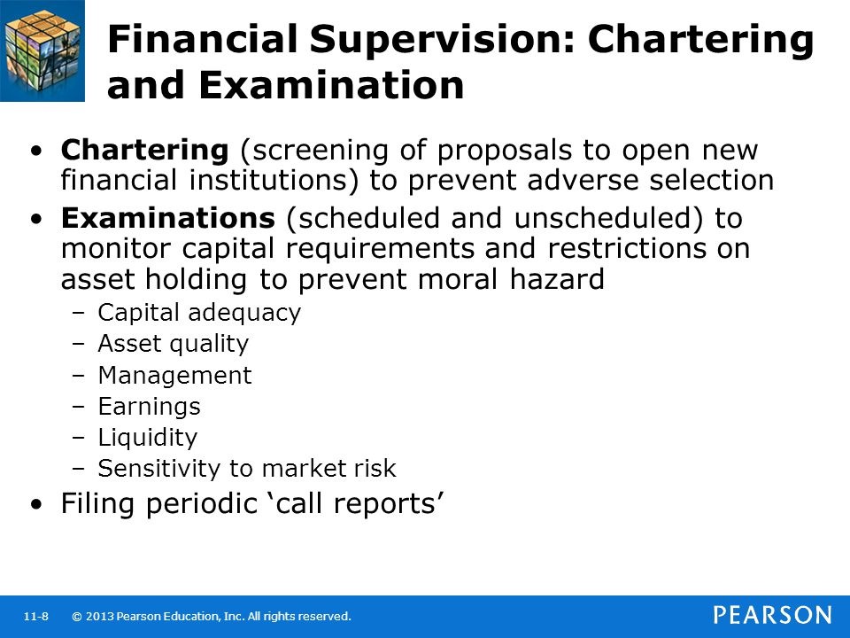Financial Supervision: Chartering and Examination