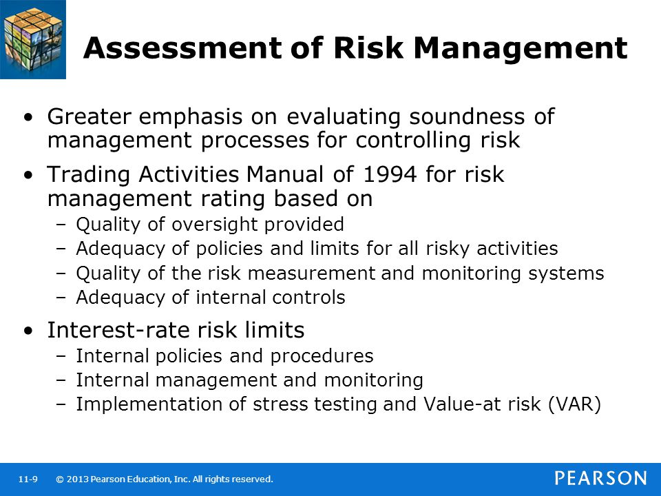 Assessment of Risk Management