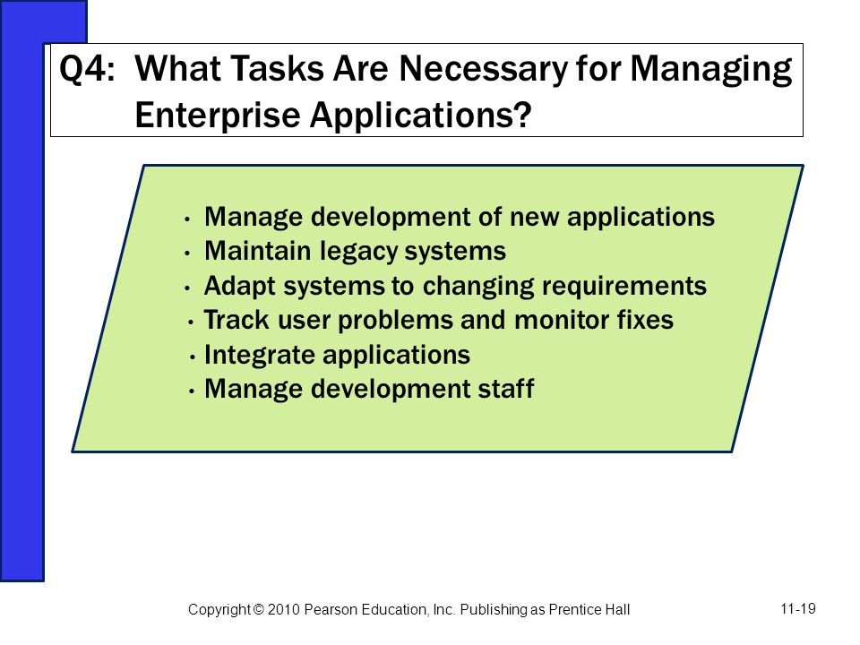Q4: What Tasks Are Necessary for Managing Enterprise Applications