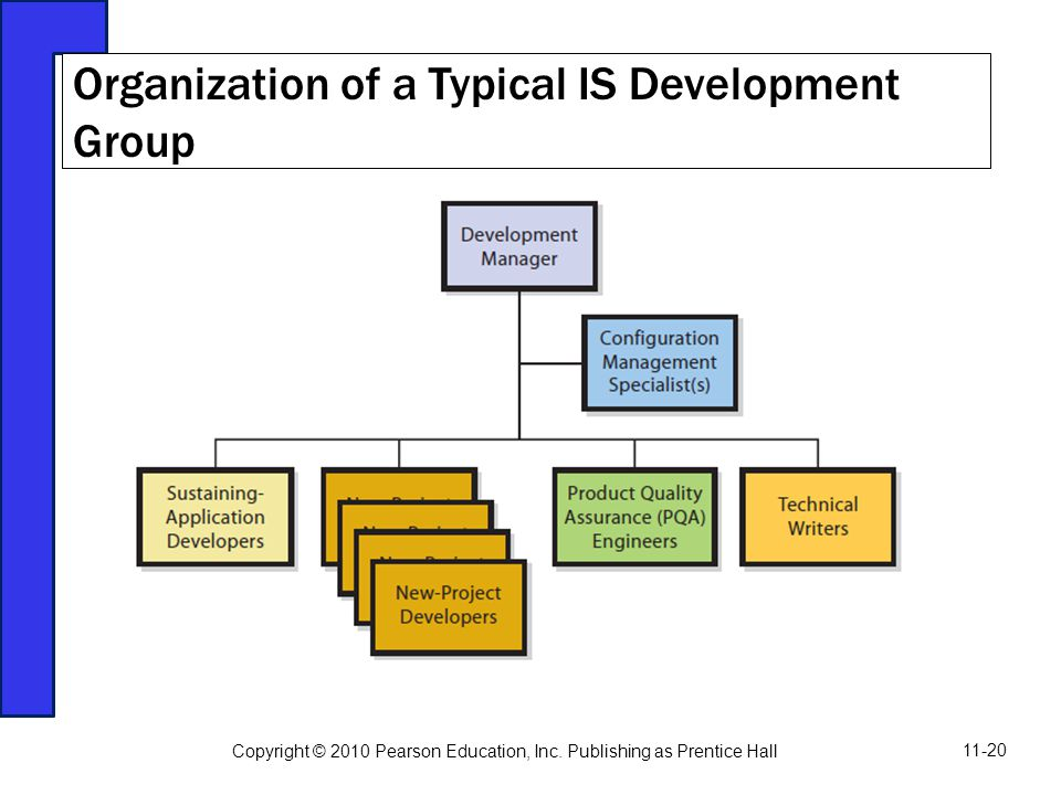 Organization of a Typical IS Development Group