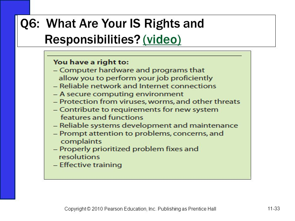 Q6: What Are Your IS Rights and Responsibilities (video)