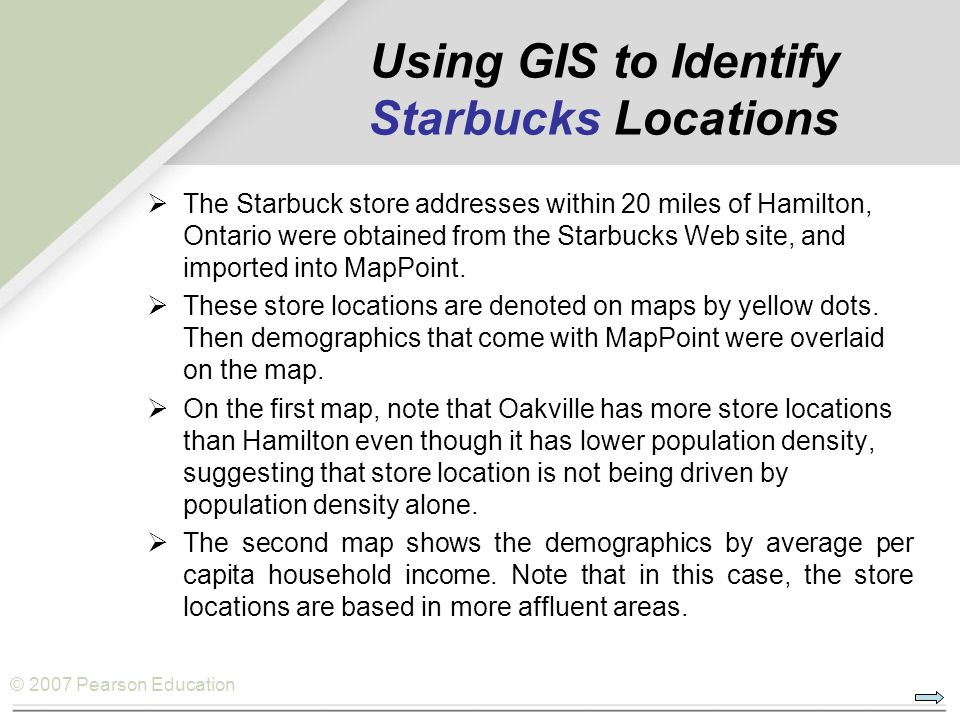 Using GIS to Identify Starbucks Locations