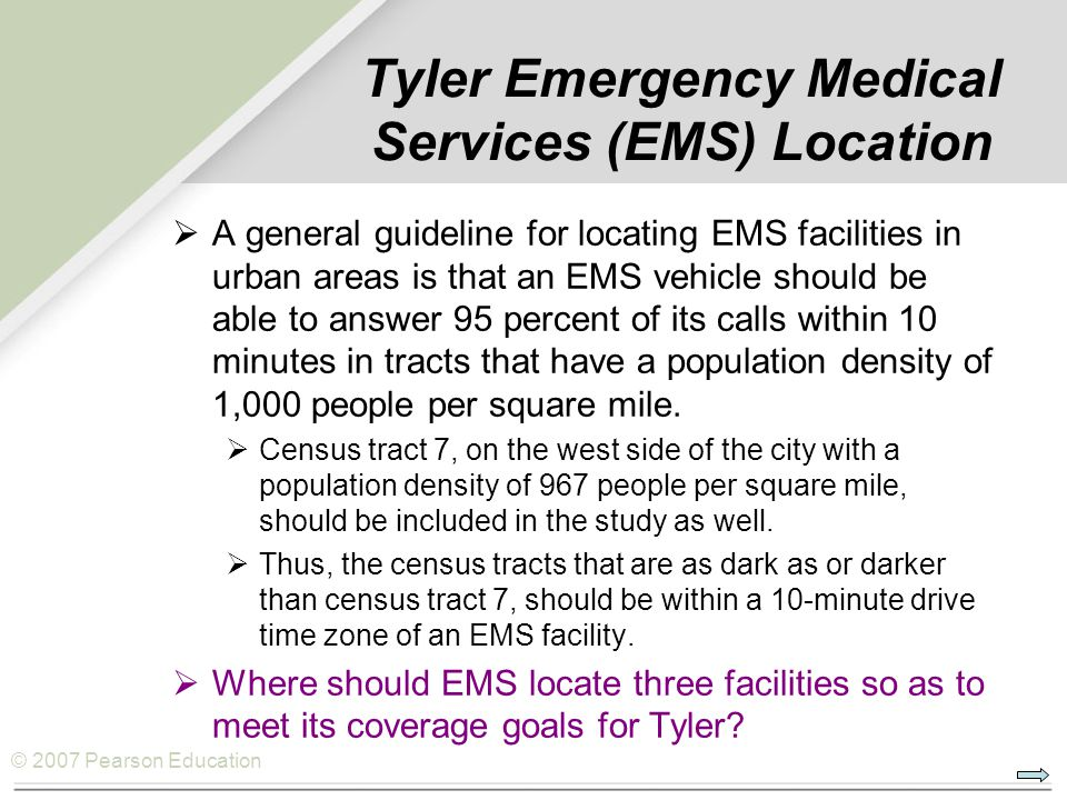 Tyler Emergency Medical Services (EMS) Location