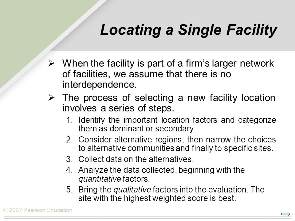 Locating a Single Facility
