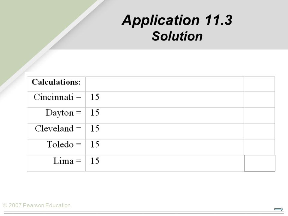 Application 11.3 Solution