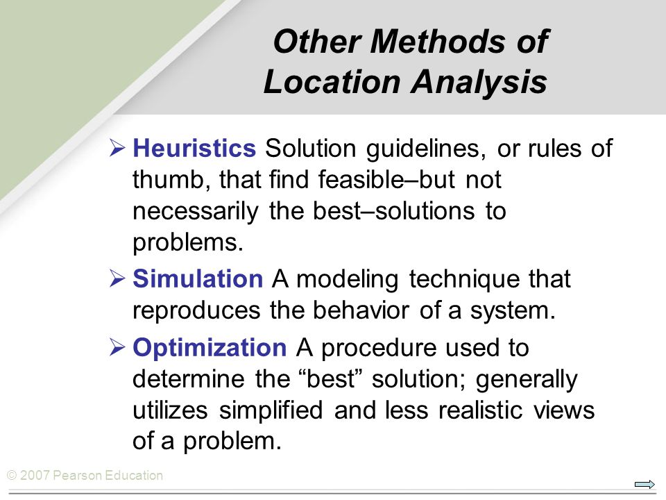 Other Methods of Location Analysis