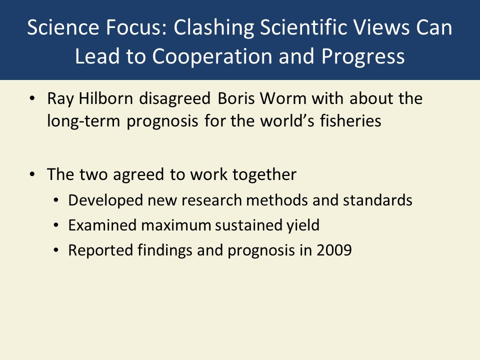 Science Focus: Clashing Scientific Views Can Lead to Cooperation and Progress