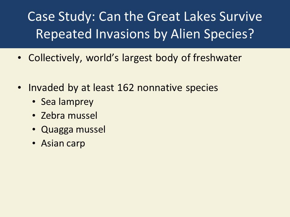 Case Study: Can the Great Lakes Survive Repeated Invasions by Alien Species