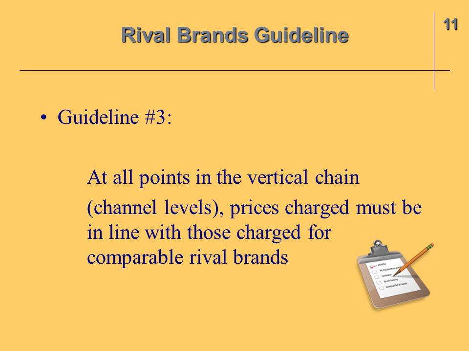 Rival Brands Guideline