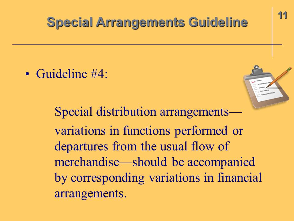 Special Arrangements Guideline