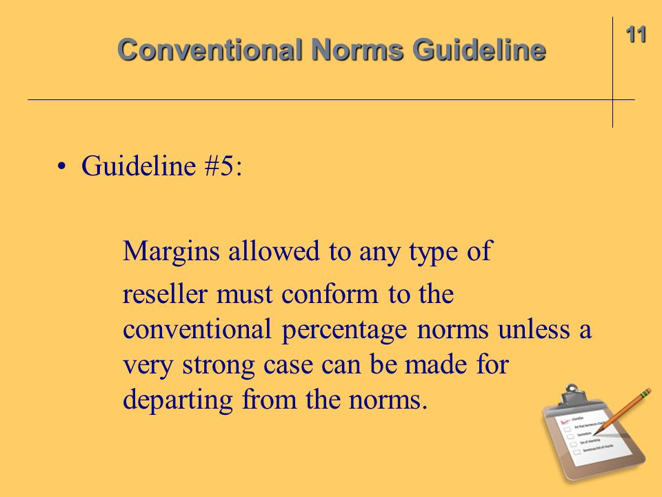 Conventional Norms Guideline