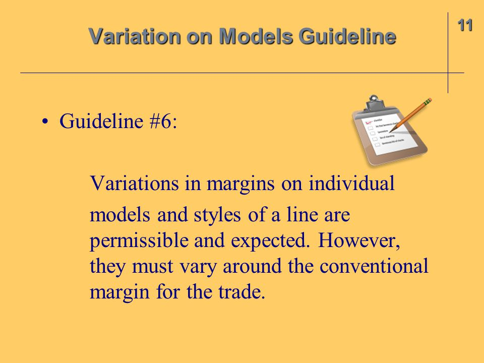 Variation on Models Guideline