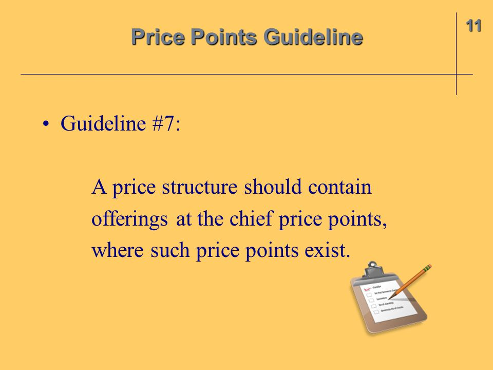 Price Points Guideline