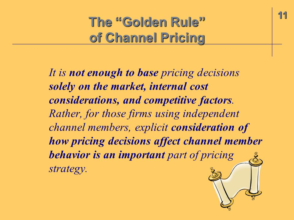The Golden Rule of Channel Pricing