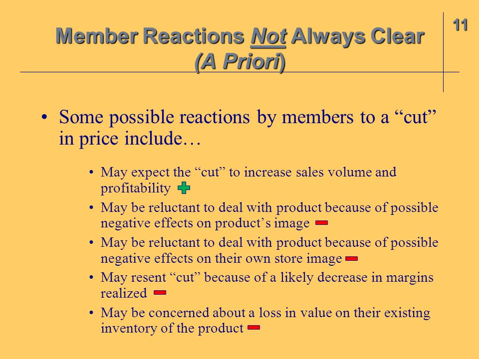 Member Reactions Not Always Clear