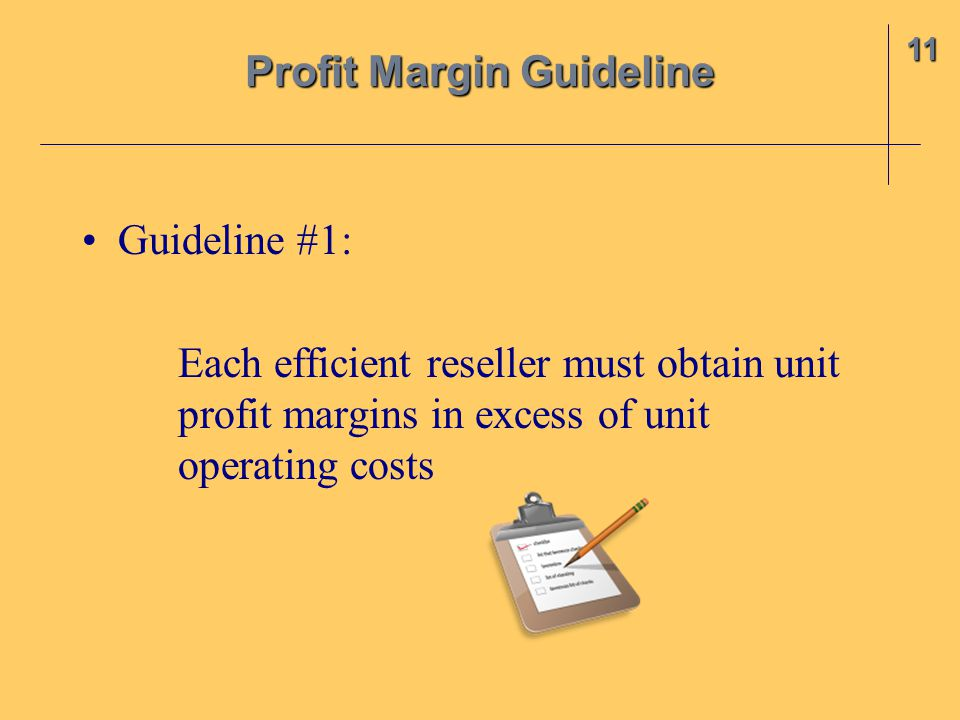 Profit Margin Guideline
