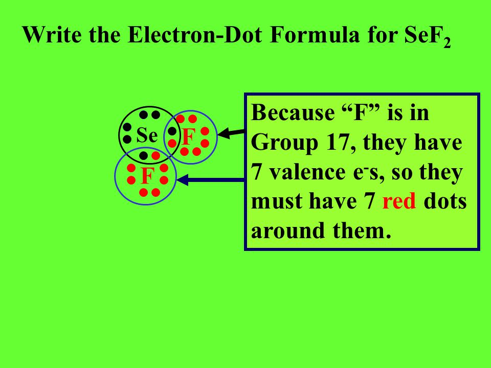 Write the Electron-Dot Formula for SeF2
