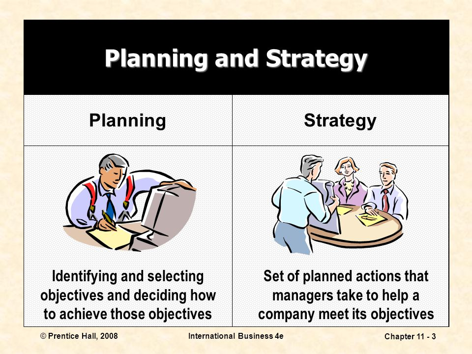 Planning and Strategy Planning Strategy