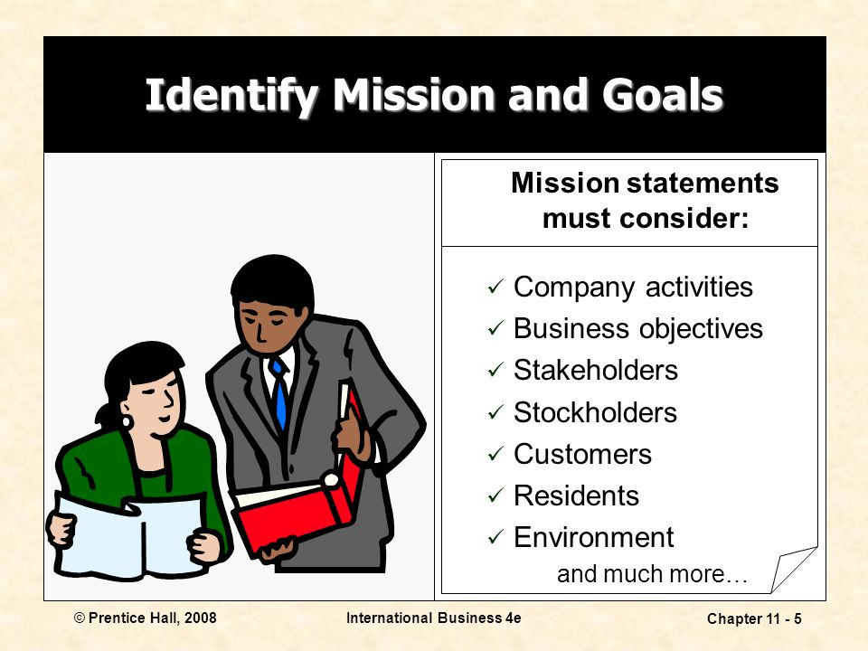 Identify Mission and Goals