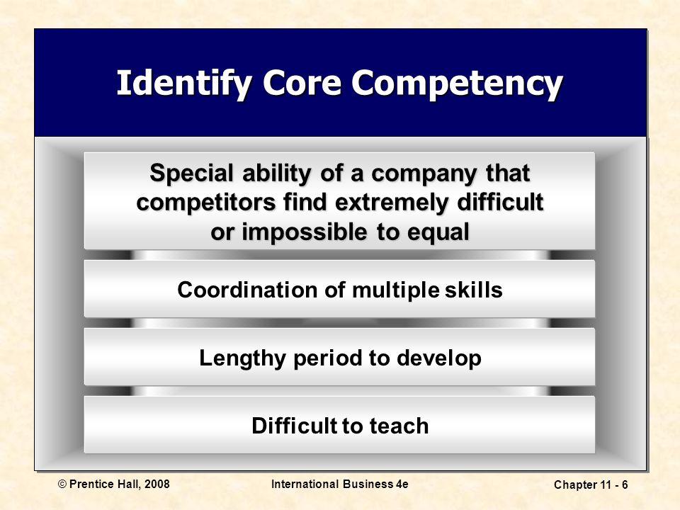 Identify Core Competency