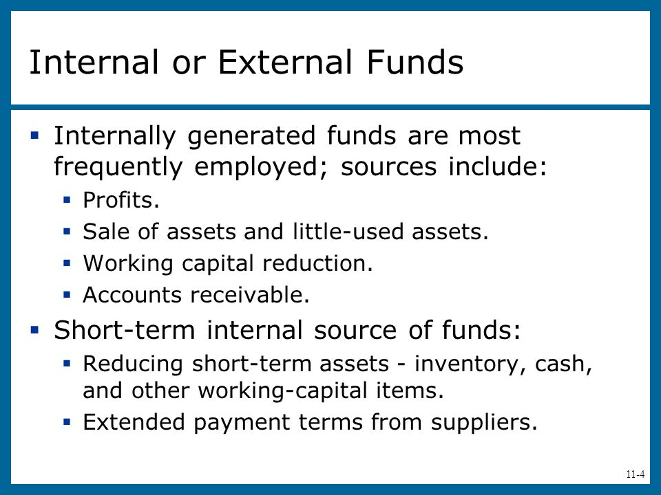 Internal or External Funds