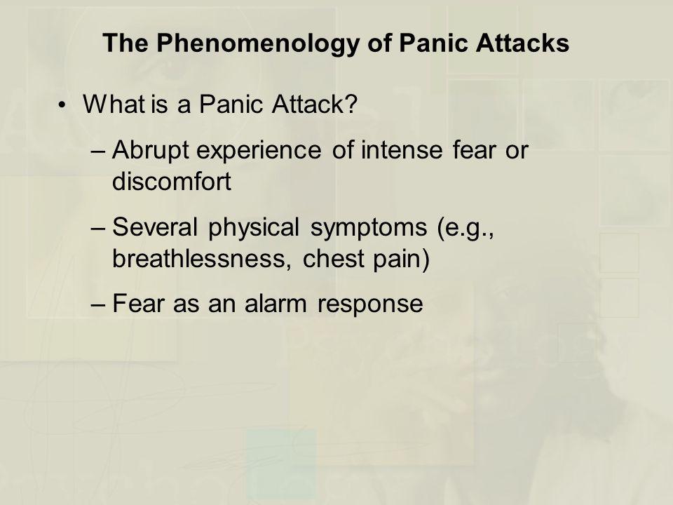 The Phenomenology of Panic Attacks