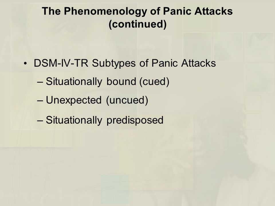 The Phenomenology of Panic Attacks (continued)