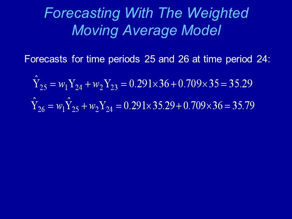 Forecasting With The Weighted Moving Average Model