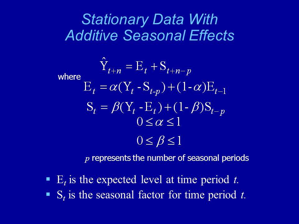 Stationary Data With Additive Seasonal Effects