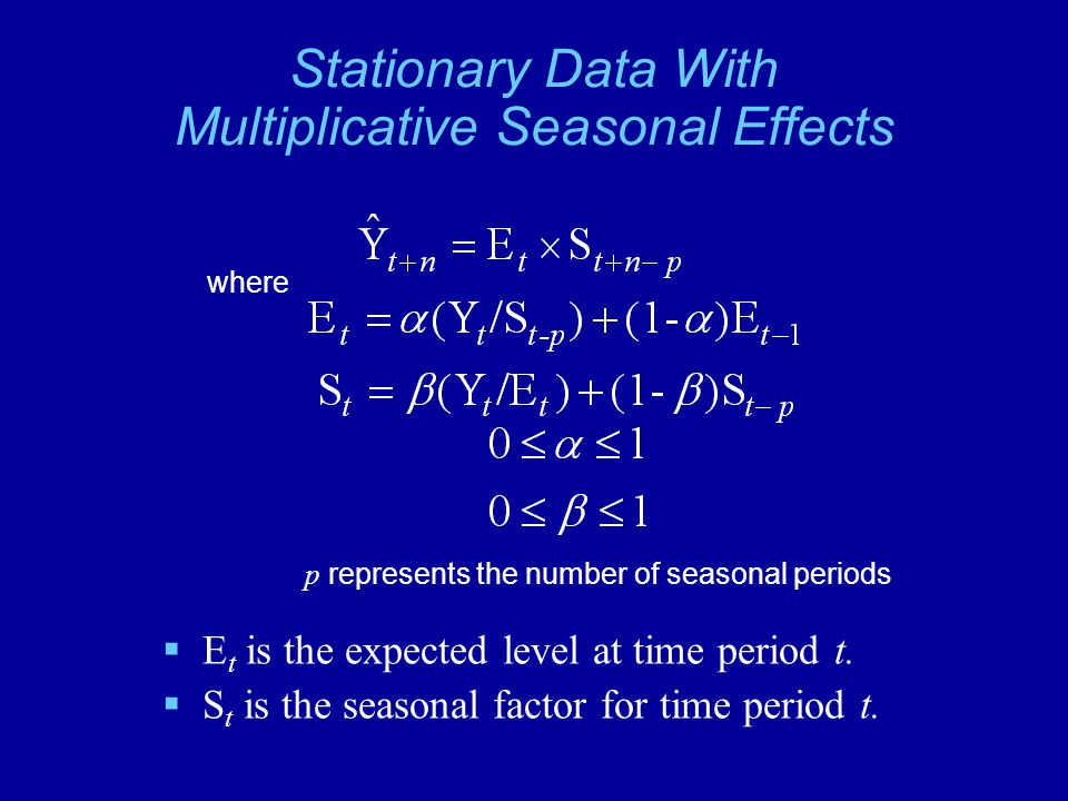 Stationary Data With Multiplicative Seasonal Effects