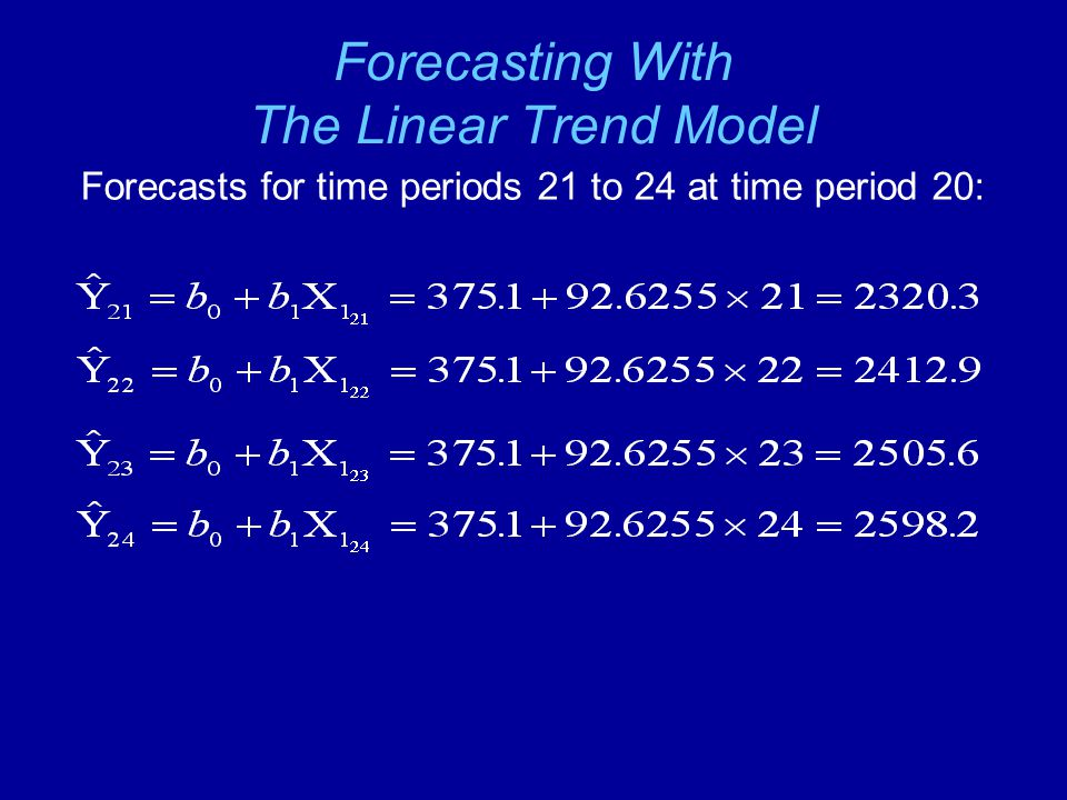 Forecasting With The Linear Trend Model