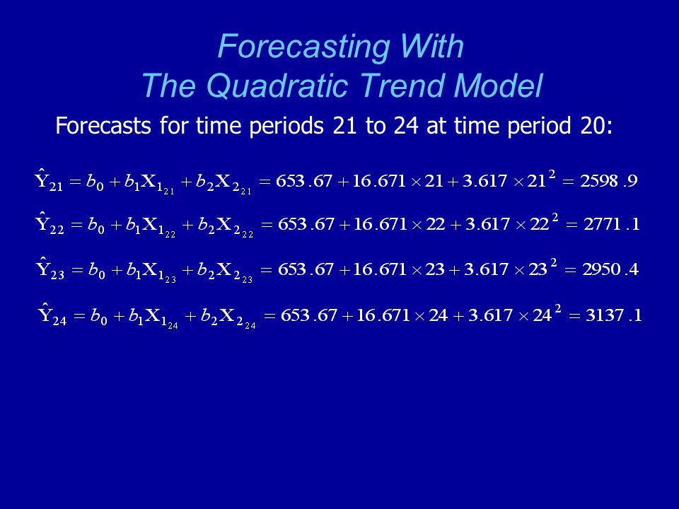 Forecasting With The Quadratic Trend Model