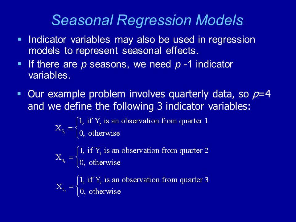 Seasonal Regression Models