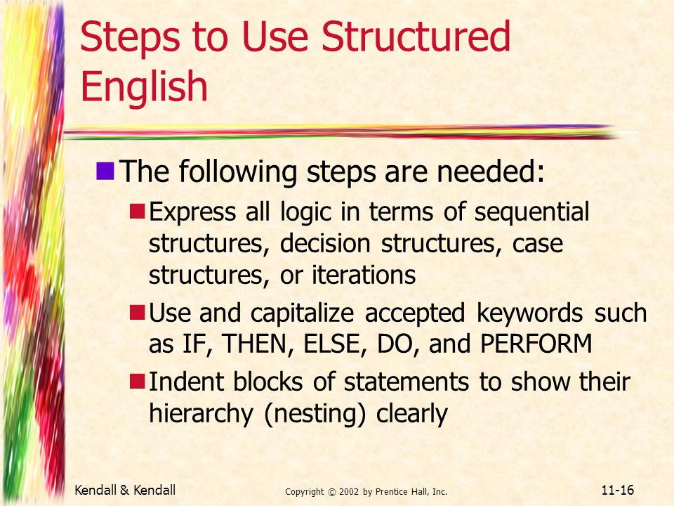 Steps to Use Structured English