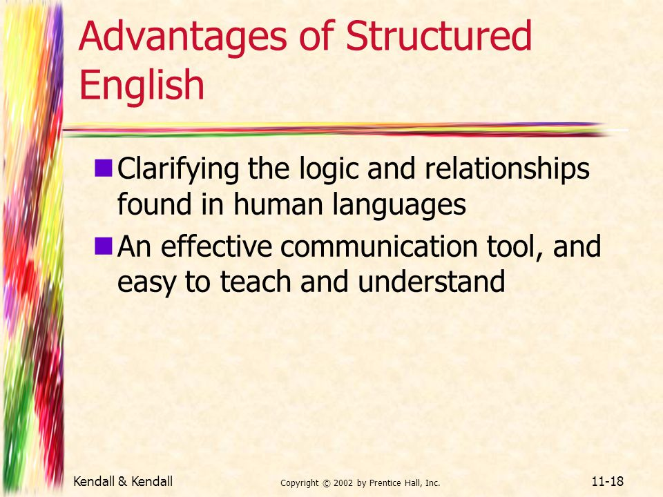Advantages of Structured English