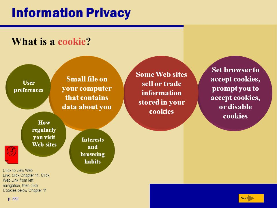 Information Privacy What is a cookie