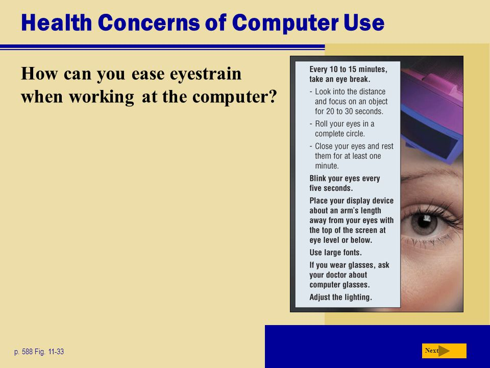 Health Concerns of Computer Use
