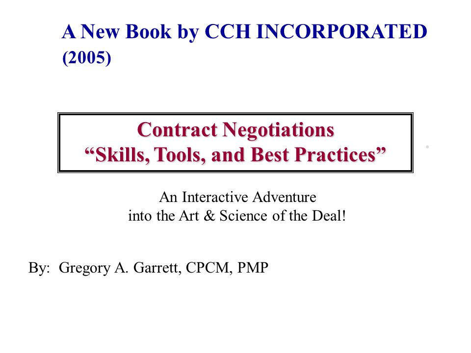 Contract Negotiations Skills, Tools, and Best Practices