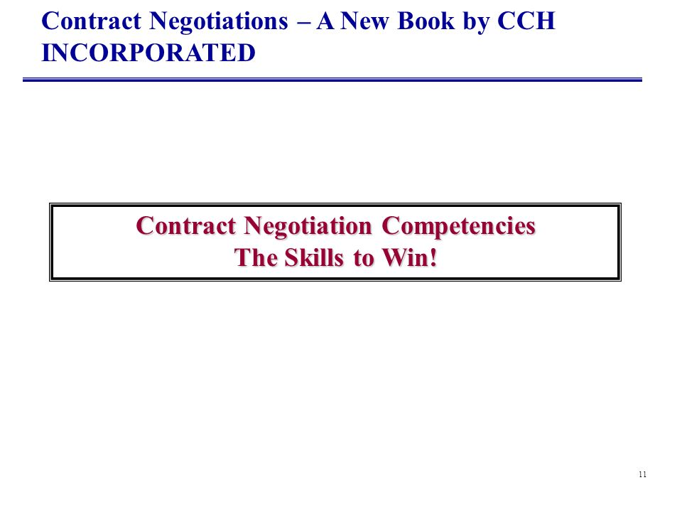 Contract Negotiation Competencies The Skills to Win!