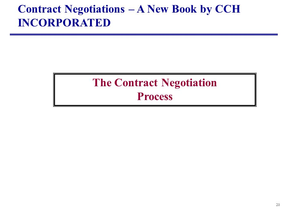 The Contract Negotiation Process