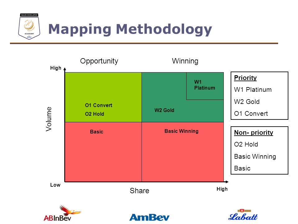 Mapping Methodology Opportunity Winning Volume Share Priority