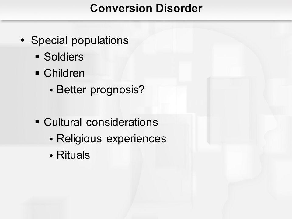 Cultural considerations Religious experiences Rituals