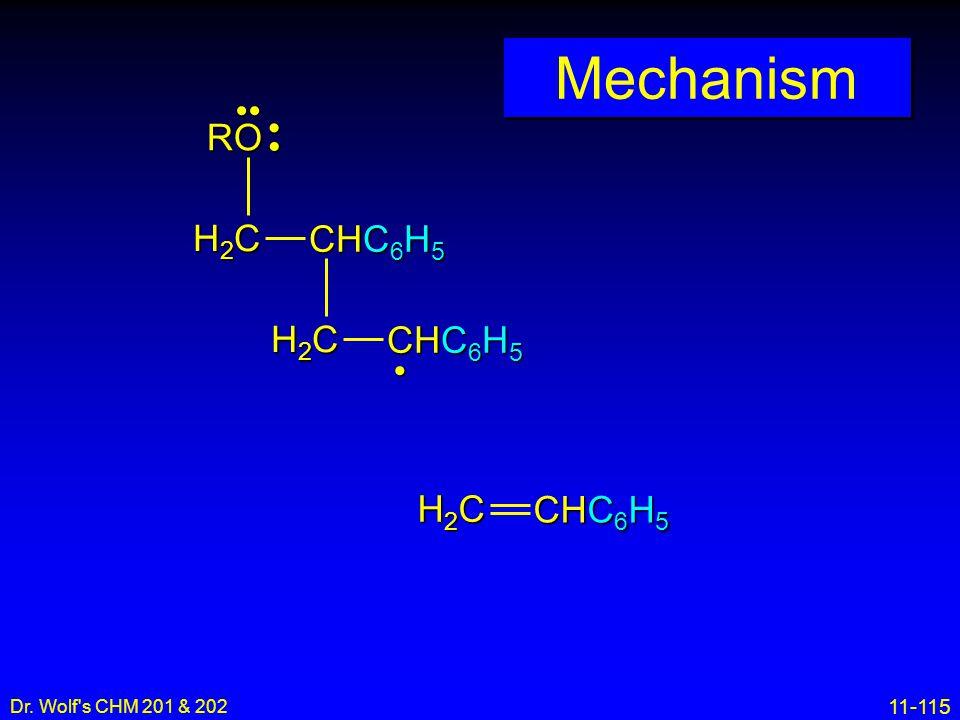 Mechanism •• • RO H2C CHC6H5 H2C CHC6H5 • H2C CHC6H5 16