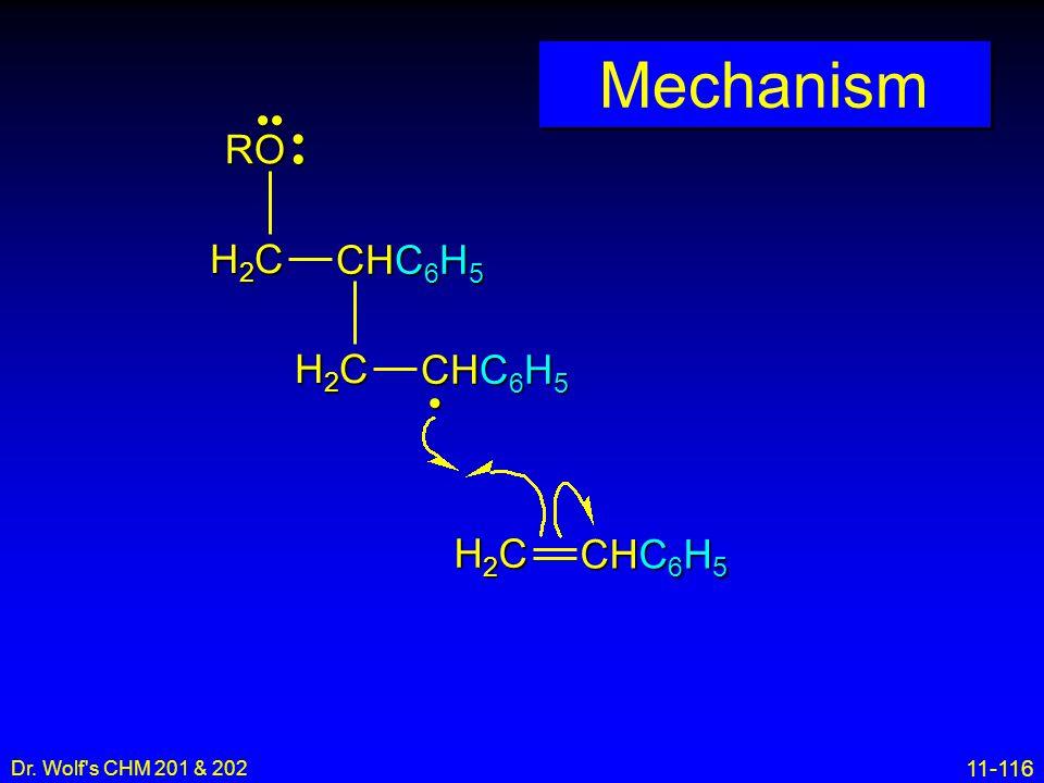 Mechanism •• • RO H2C CHC6H5 H2C CHC6H5 H2C CHC6H5 • 16