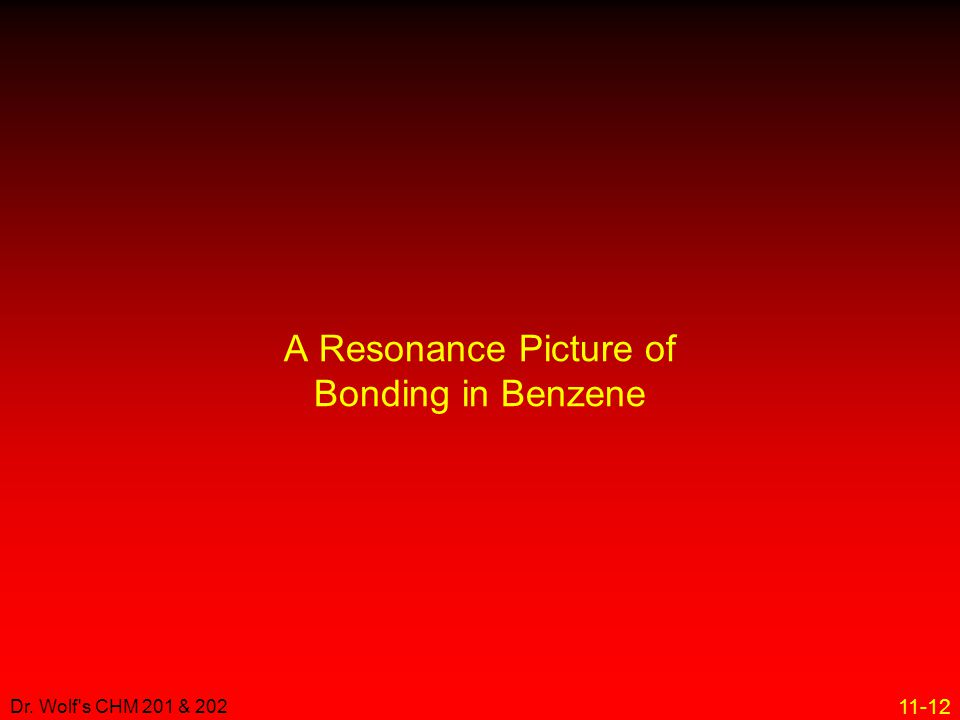 A Resonance Picture of Bonding in Benzene