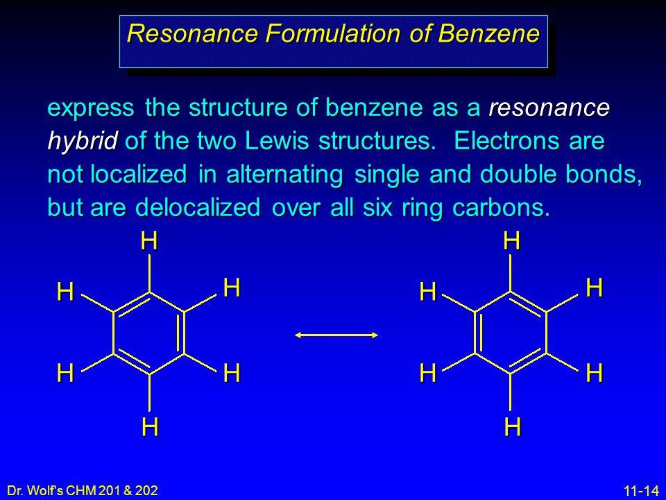 Resonance Formulation of Benzene